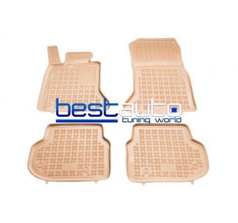 Автомобилни Гумени Стелки Rezaw Plast тип леген за BMW F11 5-серия (2010-2013) Бежови