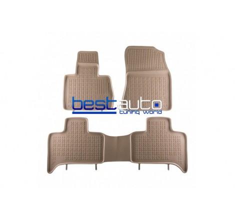 Автомобилни Гумени Стелки Rezaw Plast тип леген за BMW X5 E53 (2000-2006) Бежови