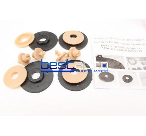 Автомобилни Гумени Стелки Rezaw Plast тип леген за Seat Toledo (1999-2005) Бежови