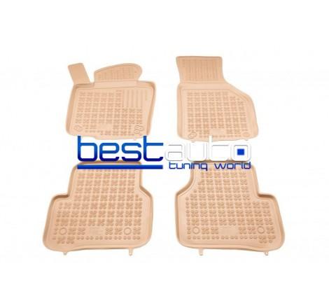 Автомобилни Гумени Стелки Rezaw Plast тип леген за VW Passat B7 (2010-2014) Бежови