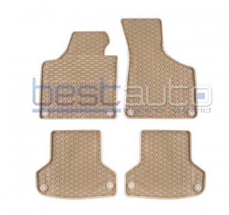 Гумени стелки Frogum за Ауди А3 8П / Audi A3 8P (03-12) бежови