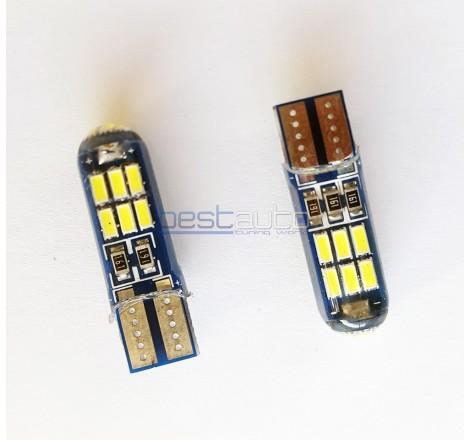 LED крушки Canbus за габарит / интериор T10 W5W - 2 броя [8054]