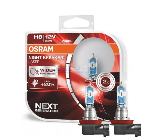 Халогенни крушки OSRAM Night Breaker Laser +150% H8 12V 35W - Комплект 2 броя