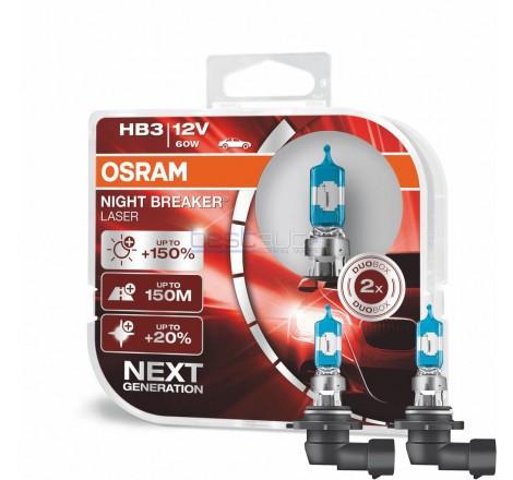 Халогенни крушки OSRAM Night Breaker Laser +150% HB3-9005 12V 60W - Комплект 2 броя