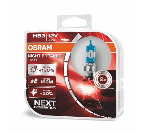 Халогенни крушки OSRAM Night Breaker Laser +150% HB3-9005 - Комплект 2 броя