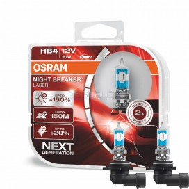 Халогенни крушки OSRAM Night Breaker Laser +150% HB4-9006 12V 51W - Комплект 2 броя
