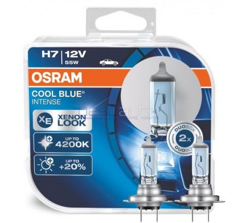 Халогенни крушки OSRAM Cool Blue Intense H7 12V 55W - Комплект 2 броя