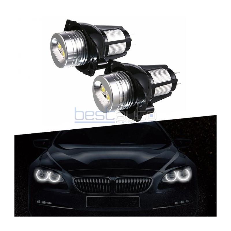 LED крушки 10W за фабрични ангелски очи на BMW E90 / E91 - бели