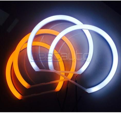"LED Ангелски очи + мигач ""Strong Power"" за BMW E46 (1998-2005)"