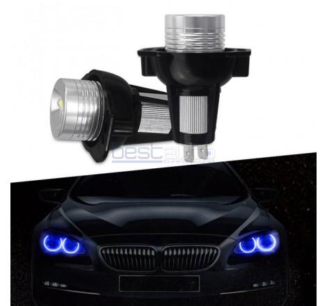 LED крушки 10W за фабрични ангелски очи на BMW E90 / E91 - сини