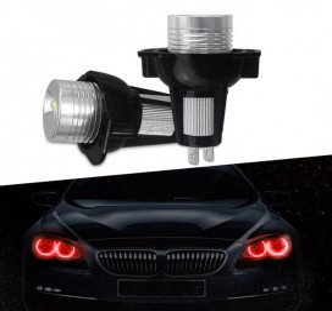 LED крушки 10W за фабрични ангелски очи на BMW E90 / E91 - червени