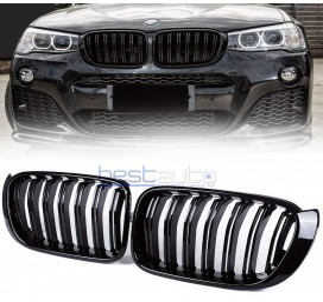 Бъбреци за BMW X3 F25 (2015-2017) Черен Гланц Двойни