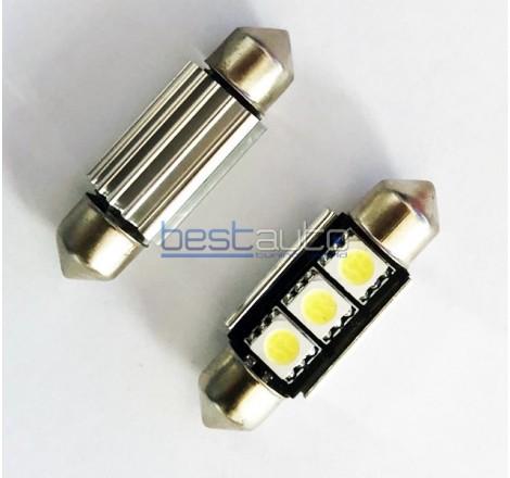 LED крушки за плафон Canbus C5W 36мм - 2 броя [C17]