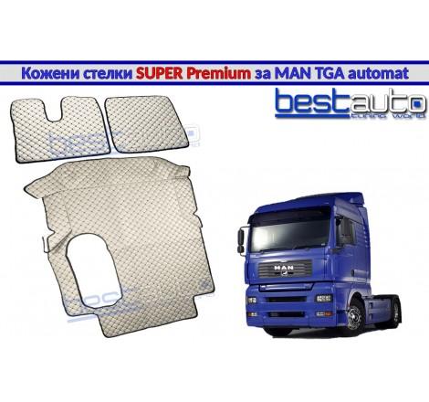 Кожени стелки SUPER PREMIUM за камион за МАН ТГА / MAN TGA с автоматични скорости