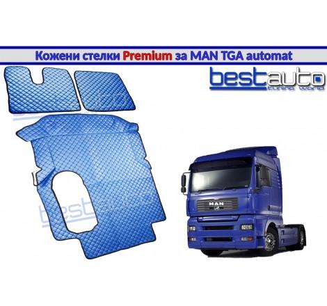 Кожени стелки PREMIUM за камион за МАН ТГА / MAN TGA с автоматични скорости