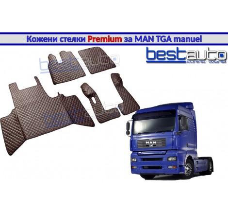 Кожени стелки PREMIUM за камион за МАН ТГА / MAN TGA с ръчни скорости