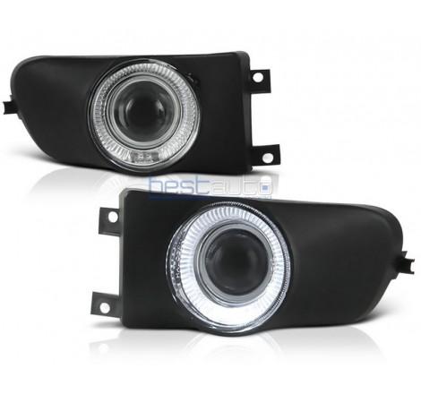 "Халогени с лупи и ""Ангелски очи"" за BMW E39 (1996-2000)"