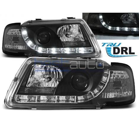 Тунинг фарове с R87 Дневни Светлини DRL за Audi A3 8L (1996-2000) Черни