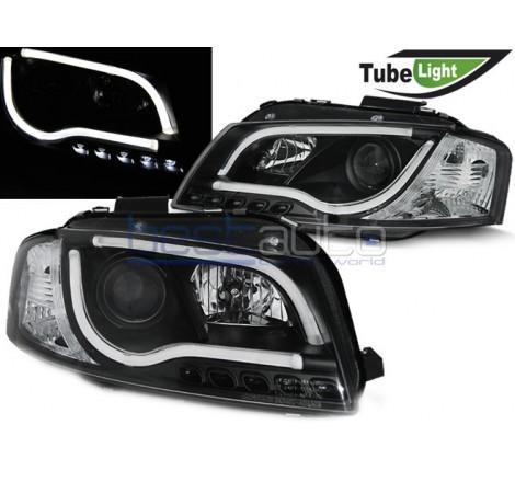 Тунинг диодни фарове Tube Light за Audi A3 8P (2003-2008) Черни