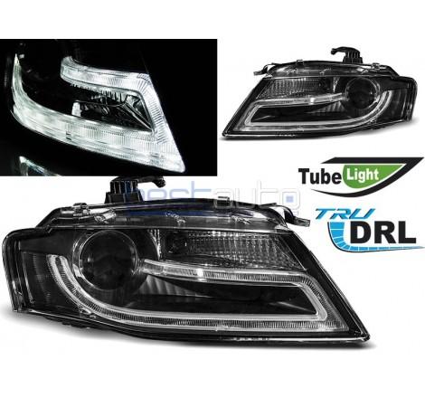 Тунинг диодни фарове R87 Tube Light за Audi A4 B8 (2008-2011) Черни