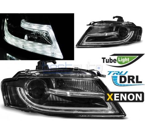 Тунинг диодни фарове D3S R87 Tube Light за Audi A4 B8 (2008-2011) Черни