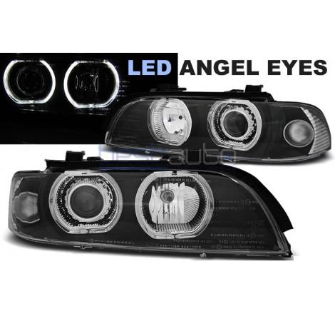 Тунинг фарове LED Angel Eyes за BMW E39 (1995-2003) Черни