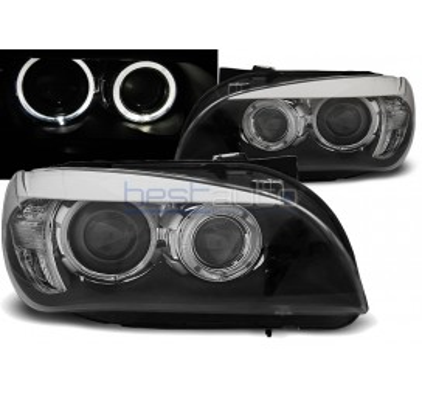 Тунинг фарове Angel Eyes за BMW X1 E84 (2009-2012) Черни