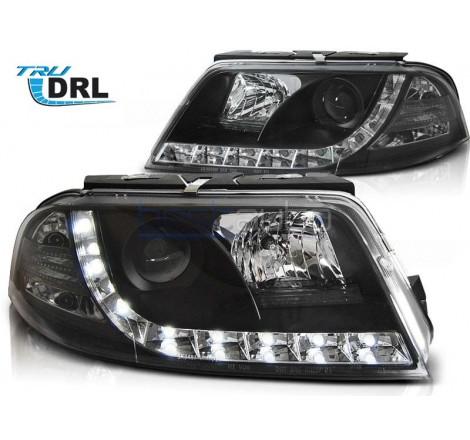 Тунинг фарове с R87 Дневни светлини за Volkswagen Passat B5.5 3BG (2000-2005) Черни