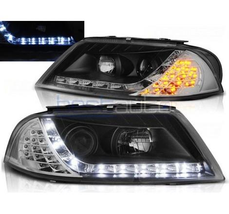 Тунинг диодни фарове Daylight с LED мигачи за Volkswagen Passat B5.5 3BG (2000-2005) Черни