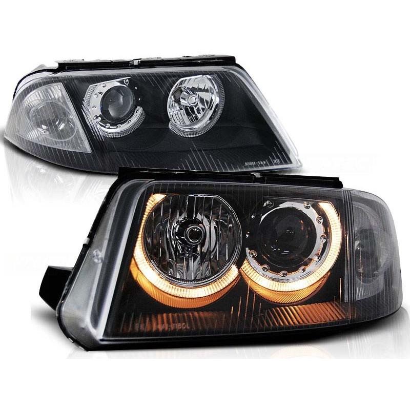 Тунинг фарове Angel Eyes за Volkswagen Passat B5.5 3BG (2000-2005) Черни