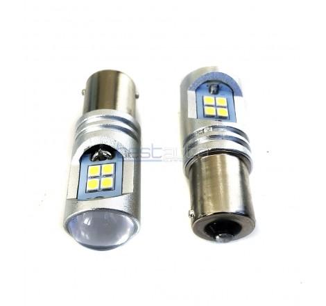 LED крушки за задна светлина с вградени лупи P21W
