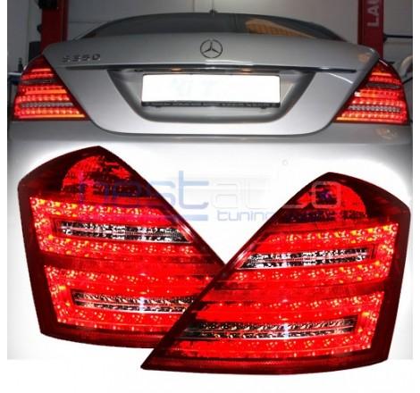 Тунинг диодни стопове фейслифт визия за Mercedes-Benz S-Class W221 (2005-2009)