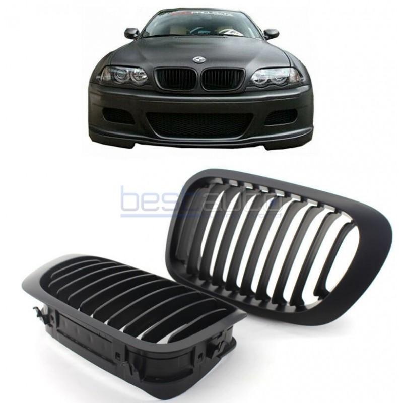 Бъбреци за BMW E46 Купе / Кабрио (1999-2003) Черен Мат