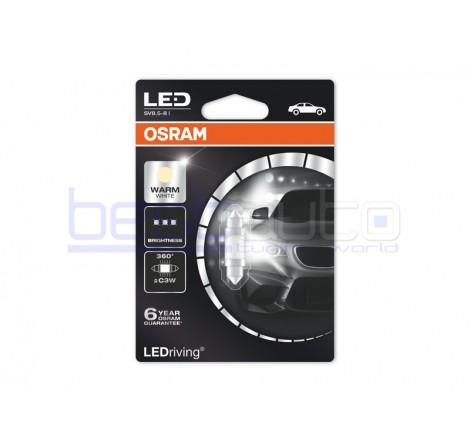 LED лампа Osram тип C3W 31мм. топло бяла, 4000K, 12V, 1W, SV8.5-8, 1 брой