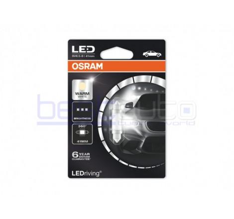 LED лампа Osram тип C10W 41mm. топло бяла, 4000K, 12V, 1W, SV8.5-8, 1 брой