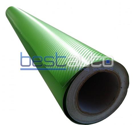 Зелено Карбоново фолио 200 x 127 cm.