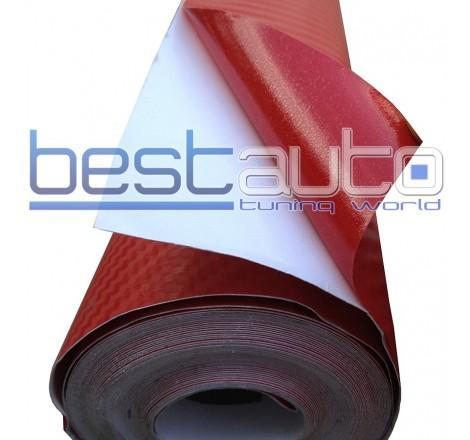 3D Червено Карбоново Фолио 200 x 127 cm.